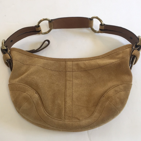 7ab0ec1ed28 Coach Bags | Soho Tan Suede Shoulder Bag | Poshmark